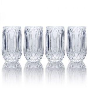 Mikasa Set of 4 High Ball Fine Crystal Glasses